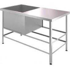 Ванна моечная односекционная ВМЦ Э 1Л (L=1210, S=630, H=870, G=400) со столом